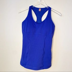 Lucy | Padded Blue Workout Tank | Medium
